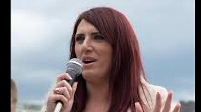 Jayda Fransen dismissed as 'nonsense' accusations that she used words which were 'threatening, abusive or insulting' when criticising Islam at a party rally in Belfast.(Photo: Twitter/ @JaydaBF)
