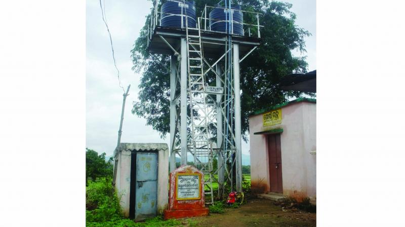 A water tank in Kolnara