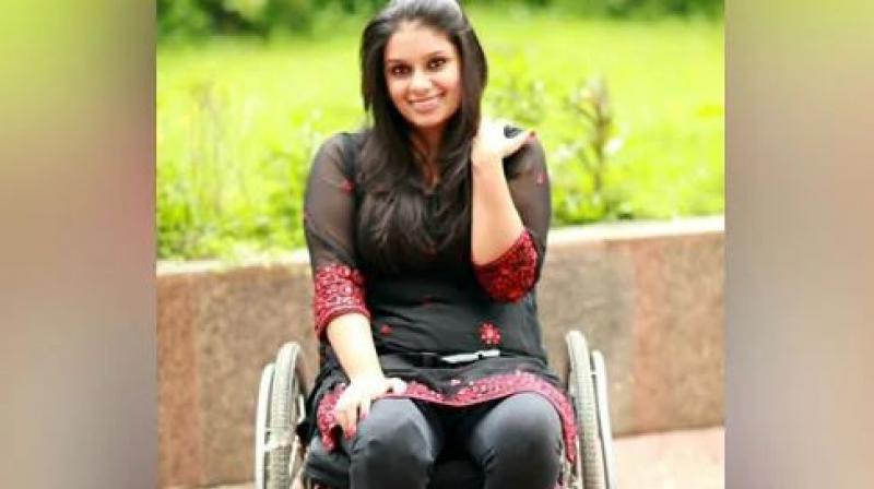 Virali cannot walk or stand and has been paralysed after a spinal cord injury since 2006. (Photo: Twitter)