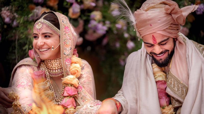 Virat Kohli and Anushka Sharma tied the knot on December 11 in Italy. (Photo: Twitter / Anushka Sharma)