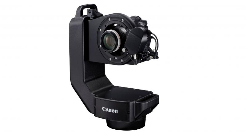 The CR-S700R system features a remote pan head that can be used to control compatible Canon EOS camera and lens for still image shooting.