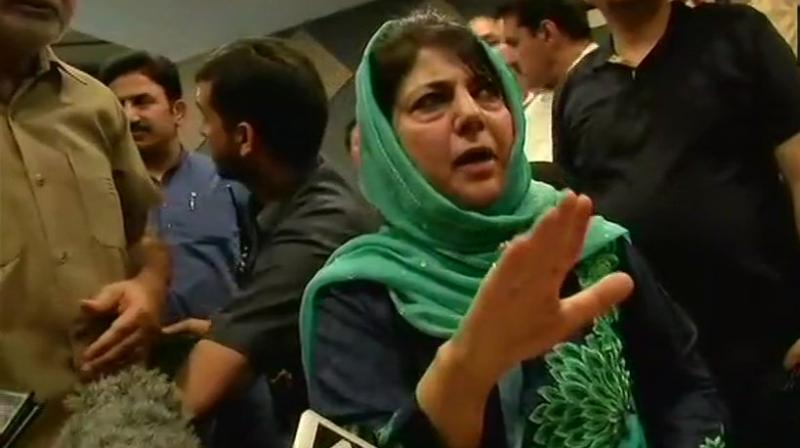 PDP president Mehbooba Mufti on Monday accused the BJP of creating a fear psychosis under the guise of national security to prepare for another Balakot-like strike in desperation to win Lok Sabha elections. (Photo: File)