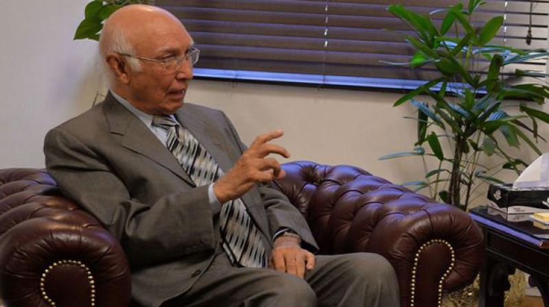 Pakistan Prime Minister's Advisor on Foreign Affairs Sartaj Aziz. (Photo: AFP)