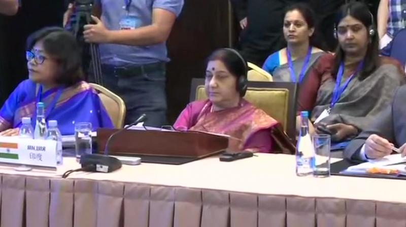 India was an observer at the SCO since 2005 and has generally participated in the ministerial-level meetings of the grouping which focus mainly on security and economic cooperation in the Eurasian region. (Photo: ANI | Twitter)