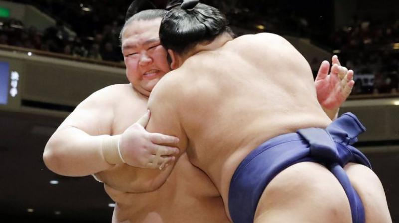 Trump is expected to watch the final three bouts on the last day of the tournament at the Ryogoku Kokugikan venue alongside Japanese Prime Minister Shinzo Abe during his May 25-28 state visit.  (Photo: AP | File)