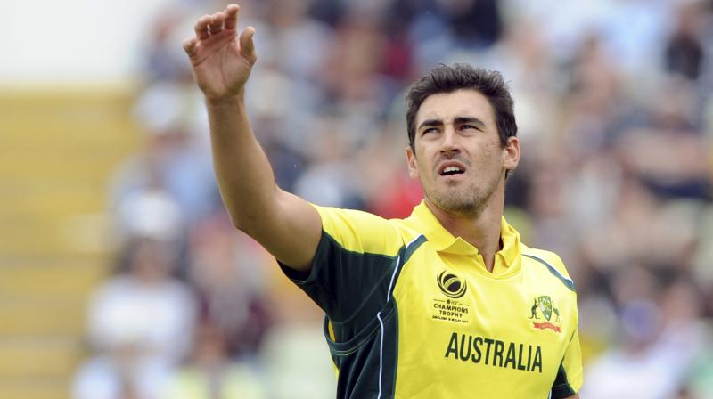 Mitchell Starc destroyed Bangladesh late in the innings with a sensational death bowling display.(Photo: AP)
