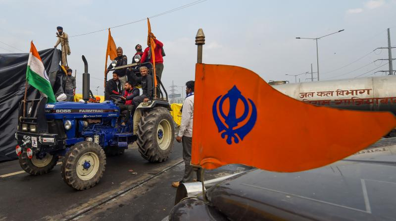 """What started out as a peaceful protest took a violent turn, as the """"tractor rally"""" went rogue. (PTI  file photo/Manvender Vashist)"""