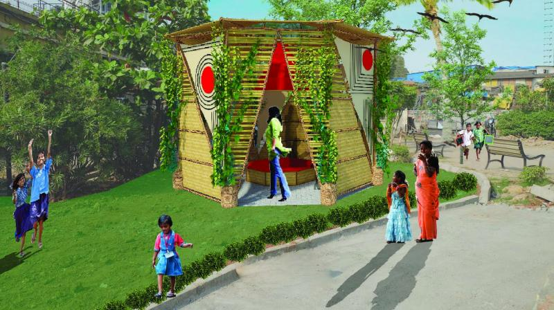 An architectural rendering of Bindi