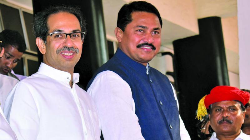 Maharashtra Speaker Nana Patole with chief minister Uddhav Thackeray. (Photo: Debasish Dey)