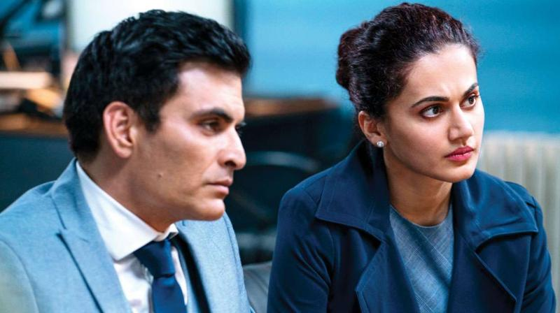 Manav Kaul and Taapsee Pannu in the still from Badla.