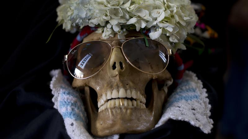 Experts say it was common in pre-Columbian times to keep skulls as trophies and display them to symbolize death and rebirth. (Photo: AP)