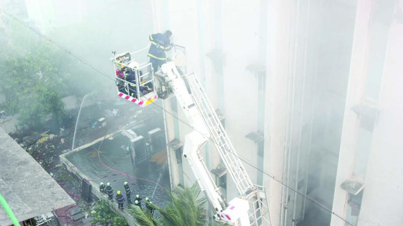A major fire broke out on the afternoon of July 22 at the MTNL Exchange, Bandra west.