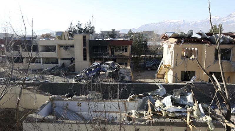 A general view of district police headquarters after the Wednesday's suicide attack and shooting in district police headquarters in Kabul, Afghanistan, Thursday, March 2, 2017. (Photo: AP)