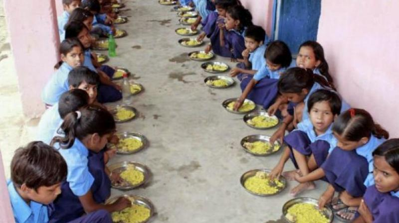 The Midday Meal scheme comes under the HRD Ministry's Department of School Education and Literacy. (Photo: File | Representative)