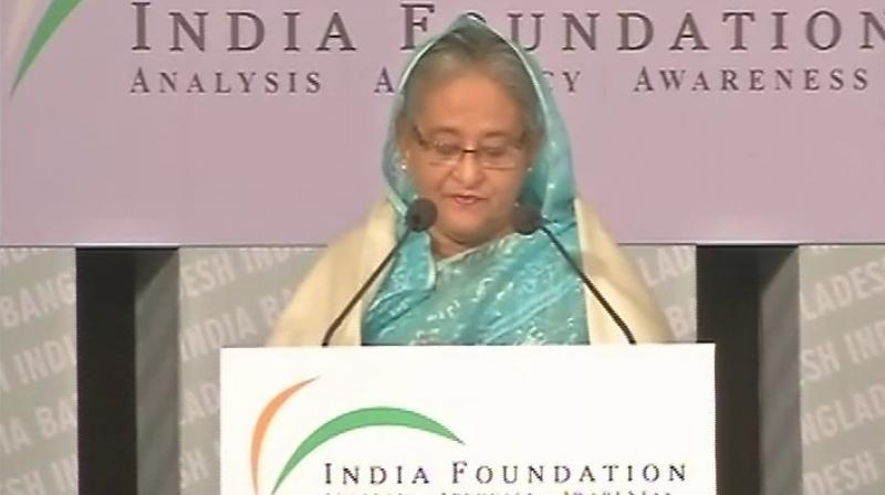 Bangladesh PM Sheikh Hasina. (Photo: ANI Twitter)