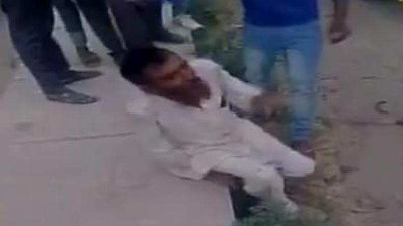 One of those thrashed, Pehlu Khan, died during treatment on April 3, while others are undergoing treatment, police said. (Photo: Videograb)