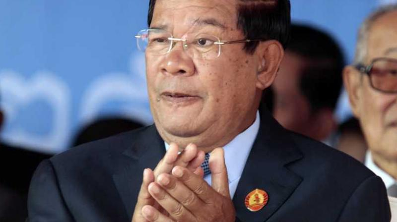 The strongman has been in power for 33 years but the vote late last month was widely decried as a sham after a crackdown on the rival Cambodia National Rescue Party (CNRP), which was dissolved by the Supreme Court in November. (Photo: AP)