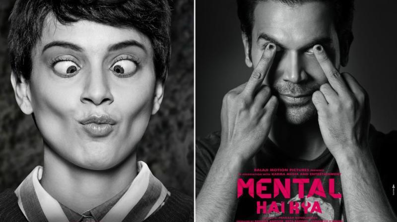 Kangana Ranaut and Rajkummar Rao in 'Mental Hai Kya' first look.