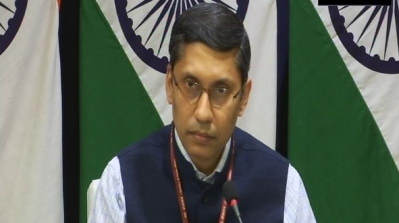 MEA spokesperson Arindam Bagchi. (ANI Photo)