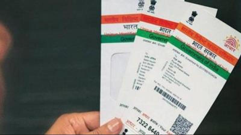 The apex court on September 26 last year had declared the Centre's flagship Aadhaar scheme as constitutionally valid but struck down some of its provisions including its linking with bank accounts, mobile phones and school admissions. (Photo: PTI)
