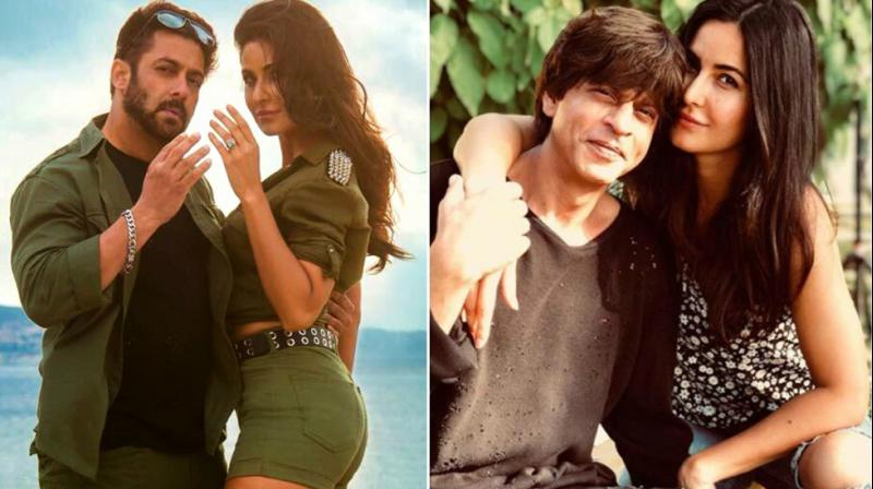 Salman Khan with Katrina Kaif in 'Tiger Zinda Hai'; actress snapped with Shah Rukh Khan.