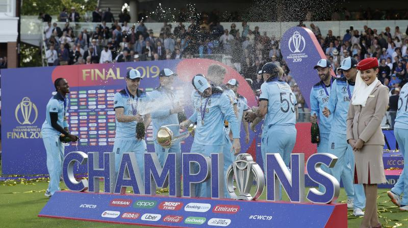 England were adjudged the winners of the world Cup on the basis of their superior boundary count. (Photo: AP)