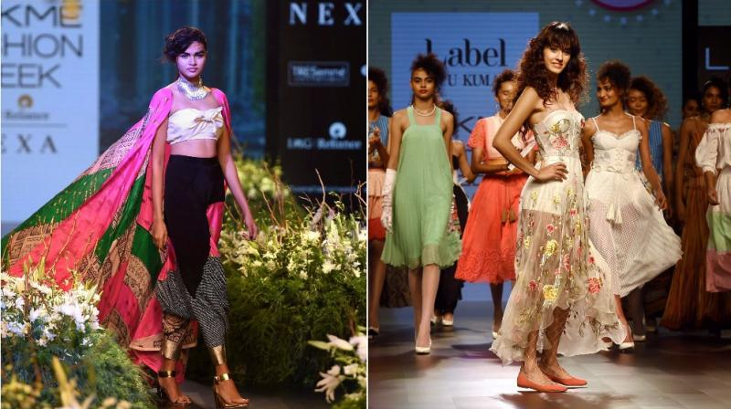 Disha Patani walks as a showstopper for Ritu Kumar, while Masaba Gupta and Sanjay Garg bring forward their designs on the first day of LFW Winter/Festive 2017 in Mumbai (Photo: AP/ PTI)