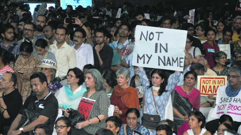 #NotInMyName rally at Jantar Mantar (Photo: Bunny Smith)