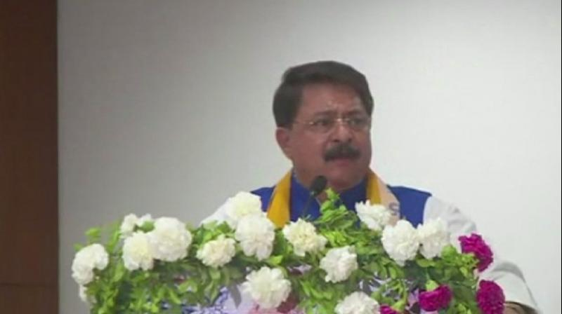 In his address at the 'Mega Brahmin Business Summit' in Gandhinagar, Trivedi said, 'I have no hesitation in saying that BR Ambedkar is a Brahmin. There is nothing wrong with calling a learned person a Brahmin. In that context, I will say that Prime Minister Narendra Modi is also a Brahmin.' (Photo: ANI)