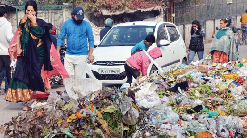 Delhi generates  8,000-9,000 tonnes  of waste, daily.