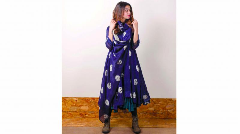 An outfit by  Karishma Shahni Khan