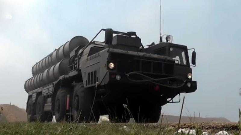 The S-400 is an upgraded version of the S-300 systems. The missile system, manufactured by Almaz-Antey, has been in service in Russia since 2007. (YouTube  Screengrab)