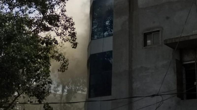 Eight fire fighting engines, a water tanker and five ambulances were rushed to the spot. (Photo: Twitter  @ANI)