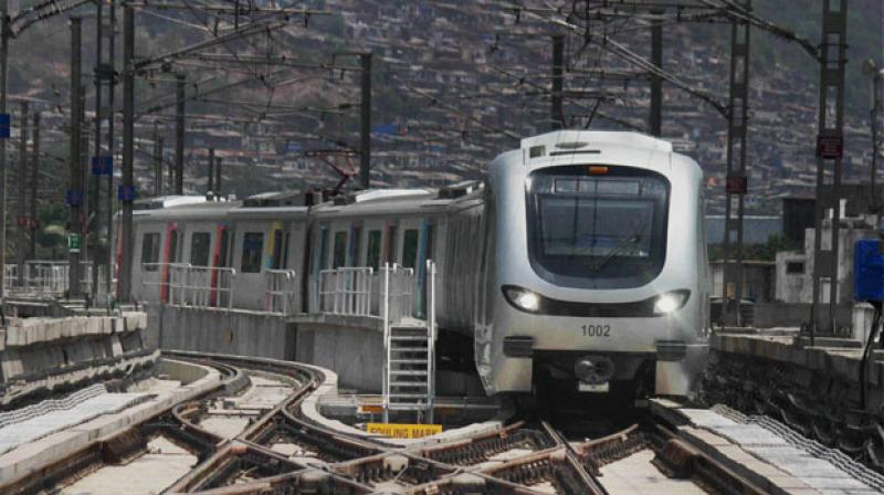 The Dahisar-Mira Bhayander route will be 10.41 km long elevated corridor and will have 11 stations, while the extension of Metro 7 Andheri-CSMI airport (Metro 7 A) will be 3.17 km long in which 2.11 km will be underground.(Representational image | PTI)