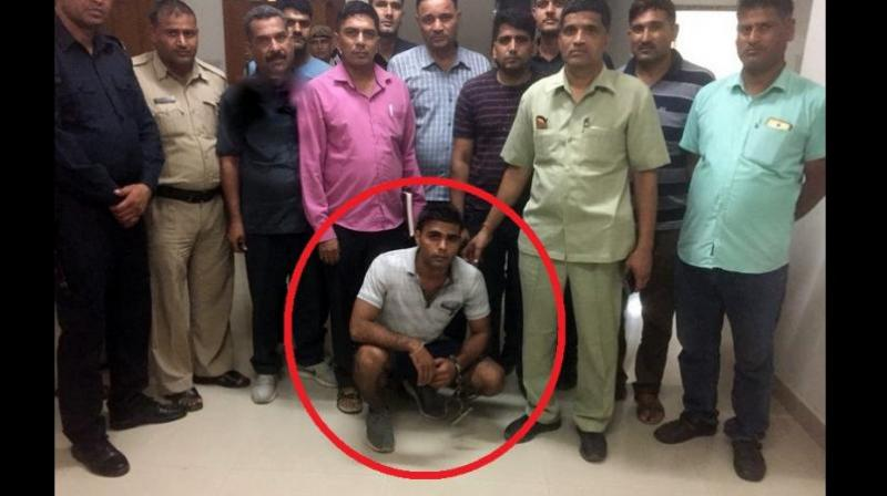 Haryana Police on Sunday arrested the main accused, Nishu Phogat, in the gang-rape of a 19-year-old woman from Rewari. (Photo: Twitter | ANI)