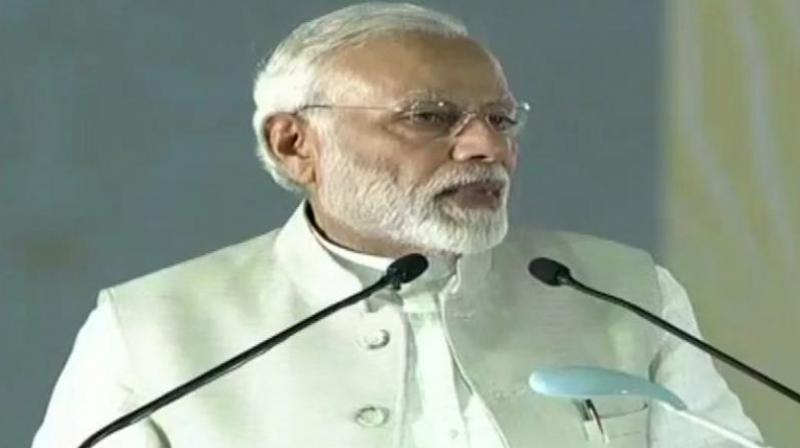 Besides banks' merger, PM Modi cited the rollout the Goods and Services Tax (GST), which amalgamated 17 central and state taxes, among the bold measures taken by the government. (Photo: ANI   Twitter)