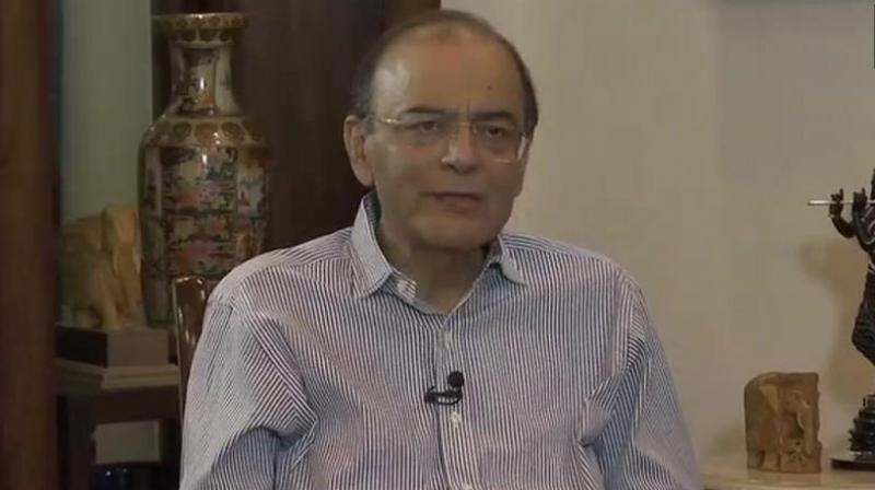 Former finance minister Arun Jaitley. (Photo: Twitter | @ANI)