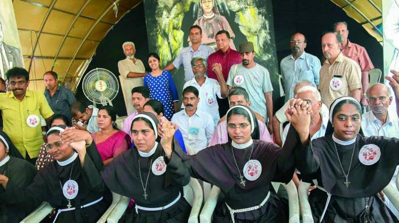 The protest led by the nuns and Catholic reformist forums in Kochi in September had led to a public outrage and demands for action against bishop Franco Mulakkal. (Photo: PTI | File)