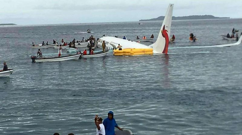 all 36 passengers and 11 crew were safe and no serious injuries were reported, although they were taken to hospital for check-ups. (Photo: AFP)