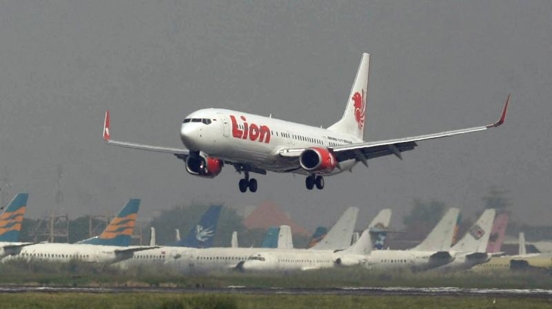 The plane lost contact 13 minutes after takeoff, according to the official. The jet was a Boeing 737 MAX 8, according to air tracking service Flightradar 24. (Photo: AP)