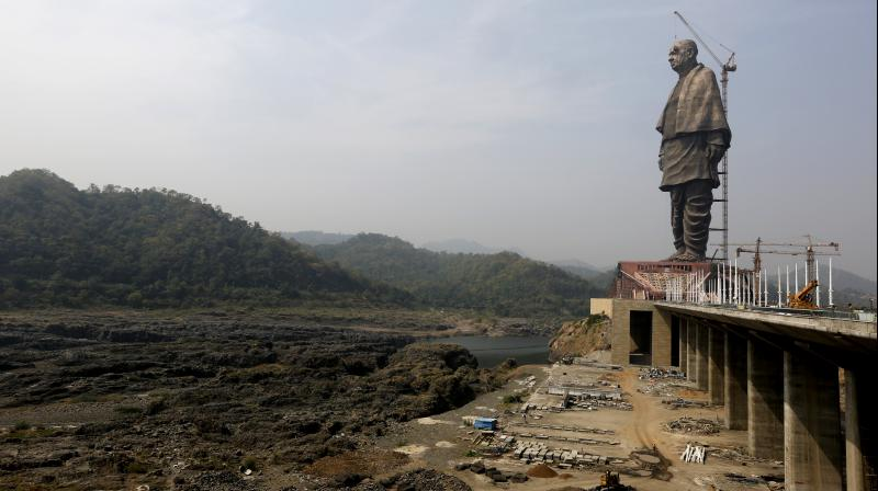 The 182-metre structure of Sardar Vallabhbhai Patel is touted as the world's tallest.  (Photo: AP)