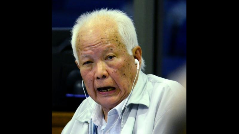 Khmer Rouge former head of state Khieu Samphan, 87 -- seen here in 2017 -- and his co-defendant are the two most senior living members of the group. (Photo: AFP)