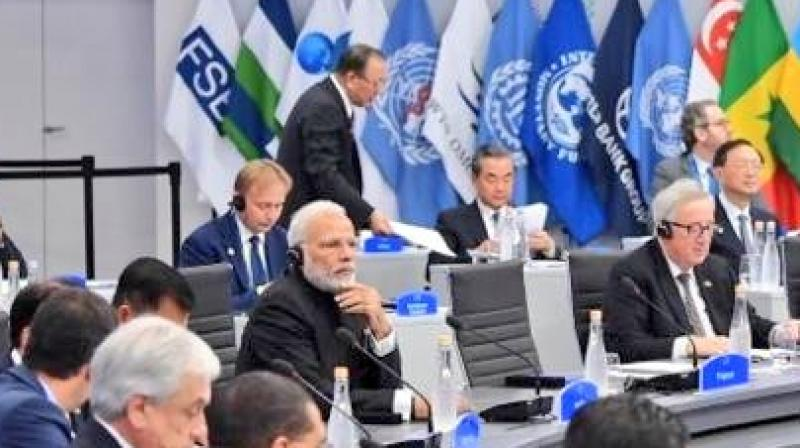 The agenda was presented by Prime Minister Narendra Modi in the second session of the G20 Summit on international trade, international financial and tax systems. (Photo: Twitter | @MEAIndia)