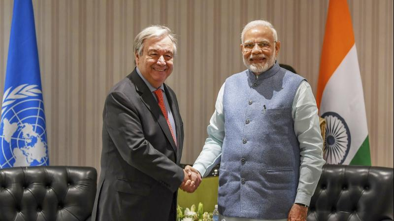 Guterres is in the Polish city Katowice for the high-level UN COP24 Climate Change Conference. (Photo: PTI)