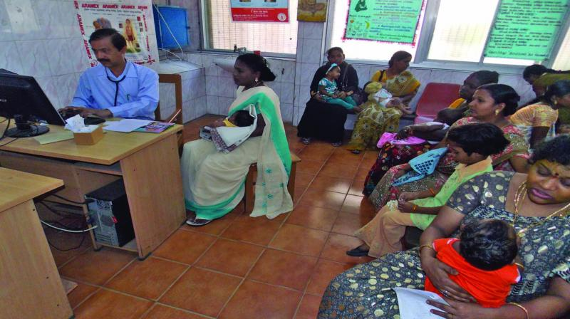 Primary Health Centres (PHCs)  are not present in many  villages (about 1 for every 20), and where present, are so severely undermanned that the 'access' system is completely broken.