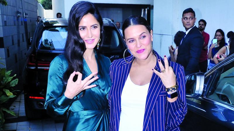 Neha Dhupia and Katrina Kaif