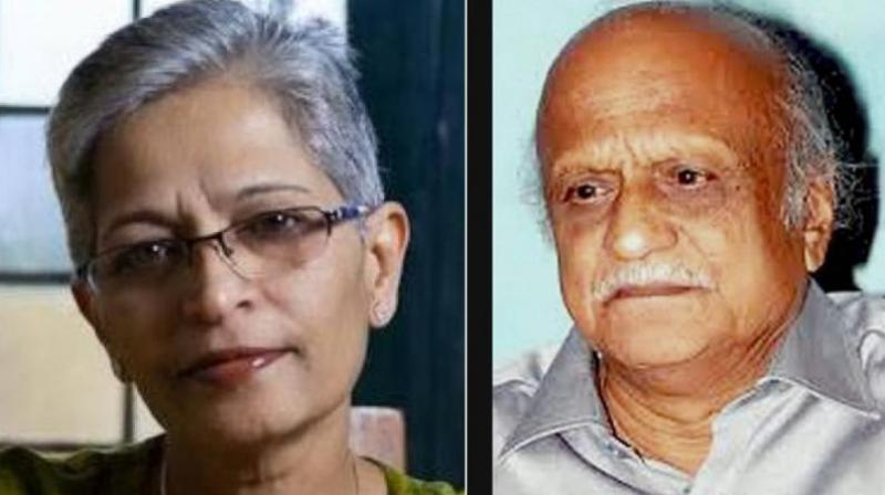 Gauri Lankesh (L) and M.M. Kalburgi (Photo: Asian Age)