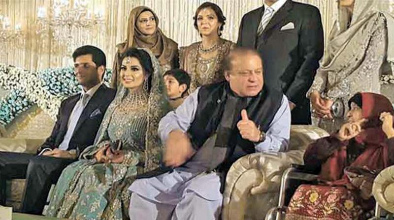 The Sharif family at a wedding in Pakistan