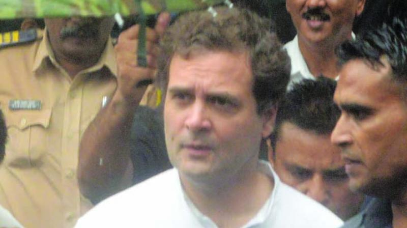 Congress leader Rahul Gandhi was on Tuesday granted exemption from personal appearance by a court here in a criminal defamation case filed by a Gujarat MLA over his 'Modi surname' remark. (Photo: File)