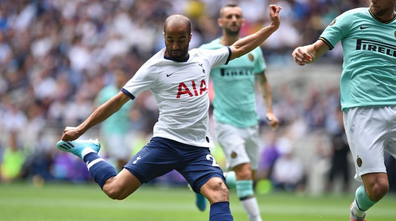 Lucas Moura on Friday signed a new contract with Tottenham, which will extend his stay at the club until 2024. (Photo: AFP)